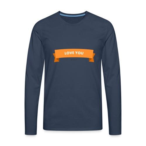 Love you 3 - Männer Premium Langarmshirt