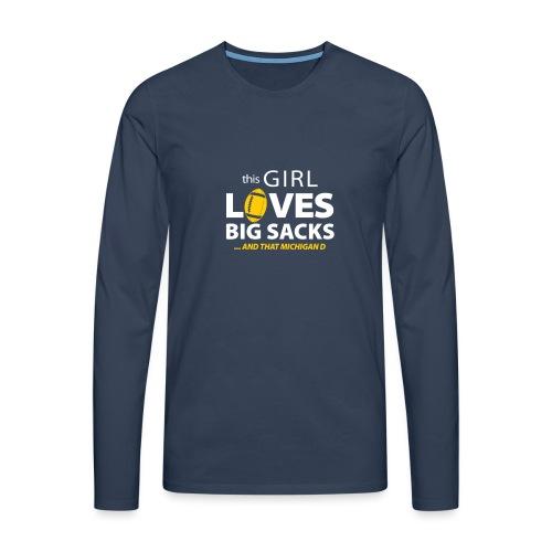 Girl Loves Big Sacks - Männer Premium Langarmshirt