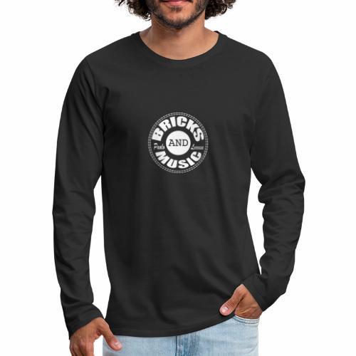 Logo bricks and music WHITE - Maglietta Premium a manica lunga da uomo