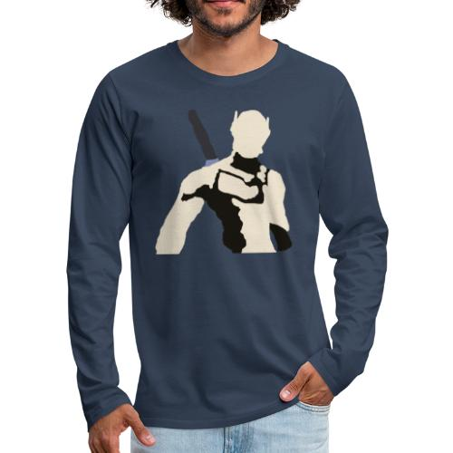 Genji - Koszulka męska Premium z długim rękawem