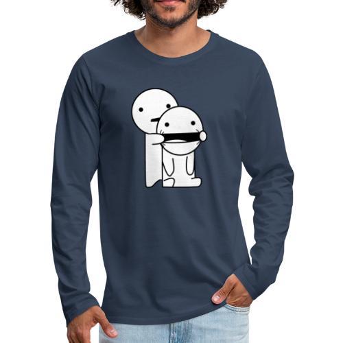 Lachen! - Mannen Premium shirt met lange mouwen