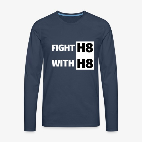 FIGHTH8 bright - Men's Premium Longsleeve Shirt