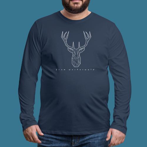 Hirsch. From Westerwald. - Männer Premium Langarmshirt