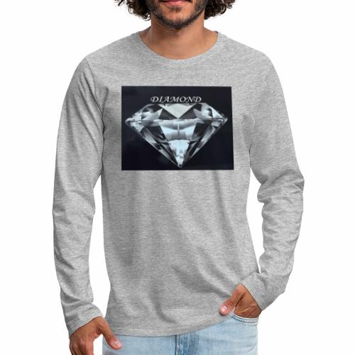 Diamond - Långärmad premium-T-shirt herr