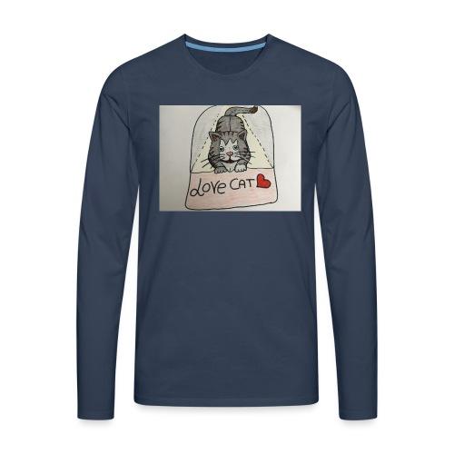 Love cat - Maglietta Premium a manica lunga da uomo
