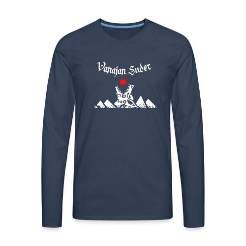 Auringonsyöjä - Miesten premium pitkähihainen t-paita