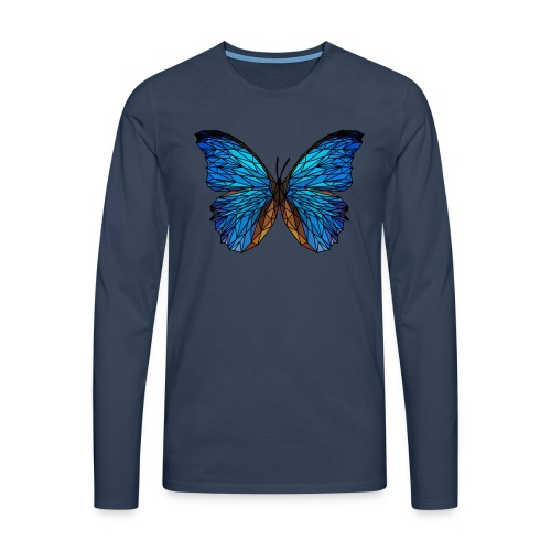 PAPILLON - LOW POLY (Outline) - T-shirt manches longues Premium Homme
