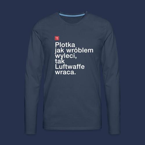 plotka - napis jasny - Koszulka męska Premium z długim rękawem