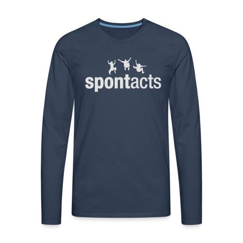 spontacts_Logo_weiss - Männer Premium Langarmshirt
