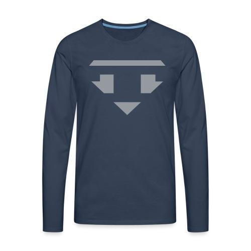 Twanneman logo Reverse - Mannen Premium shirt met lange mouwen
