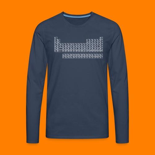 periodic white - Men's Premium Longsleeve Shirt
