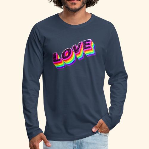 Typo Love Arc en Ciel LGBT - T-shirt manches longues Premium Homme