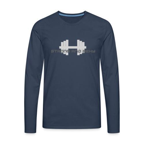 sasdumbell3 png - Mannen Premium shirt met lange mouwen