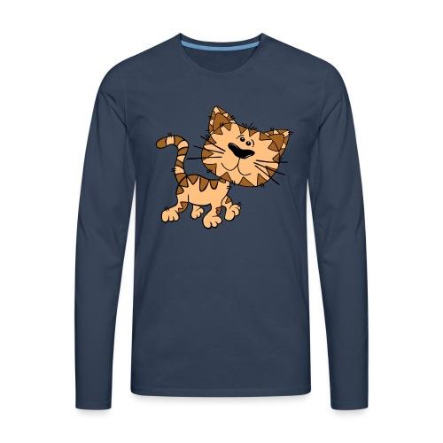Cat - Männer Premium Langarmshirt