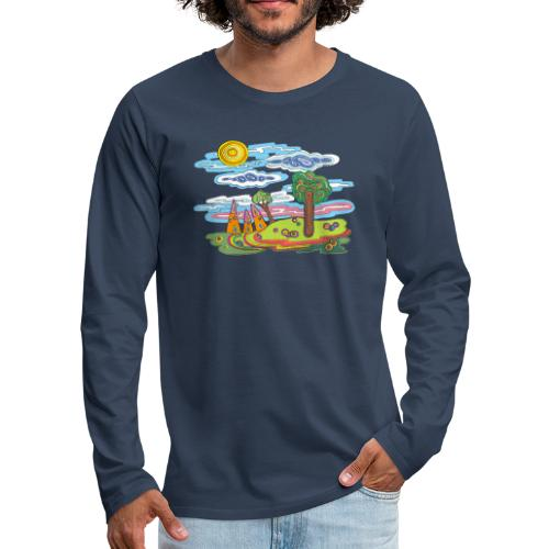 Paysage fantastique - T-shirt manches longues Premium Homme