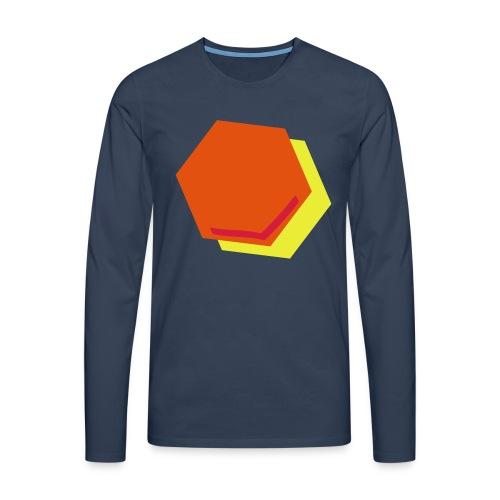 detail2 - Mannen Premium shirt met lange mouwen