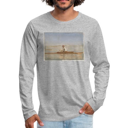 John Biglin in a Single Scull - Thomas Eakins - T-shirt manches longues Premium Homme