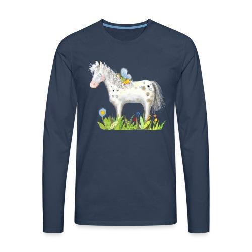 Fee. Das Pferd und die kleine Reiterin. - Männer Premium Langarmshirt