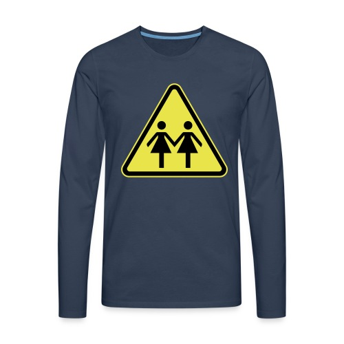 ACHTUNG LESBEN POWER! Motiv für lesbische Frauen - Männer Premium Langarmshirt