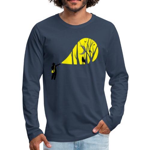 Explorateur vie sauvage - T-shirt manches longues Premium Homme