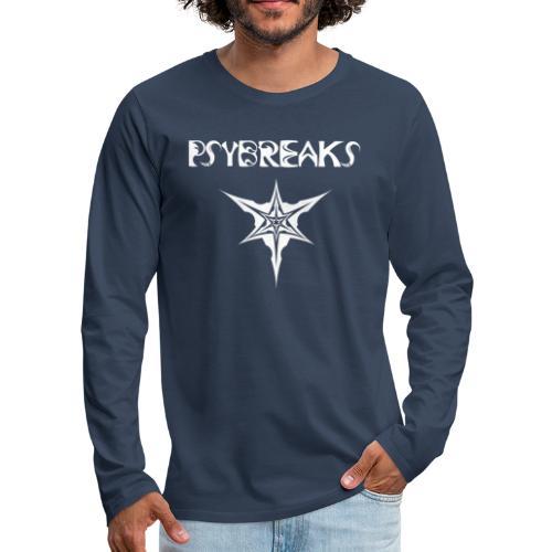 Psybreaks visuel 1 - text - white color - T-shirt manches longues Premium Homme