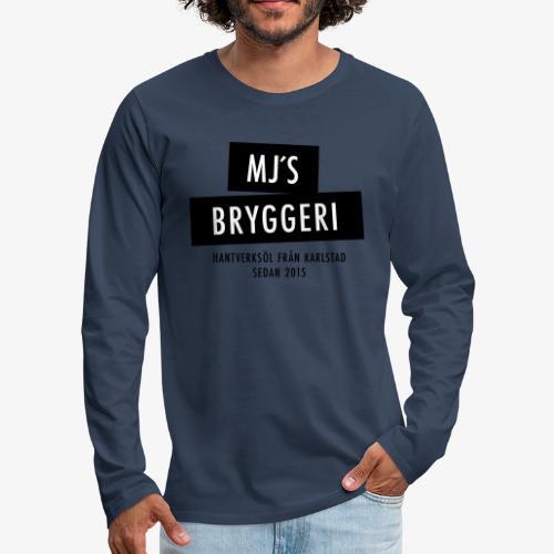 MJs logga - Långärmad premium-T-shirt herr