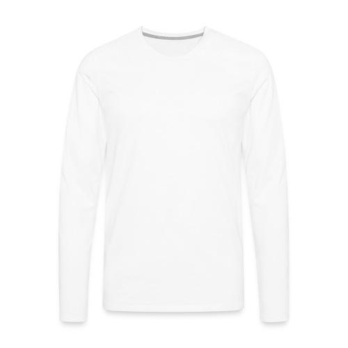 Mennaeaen eteenpaein valkoinen - Miesten premium pitkähihainen t-paita