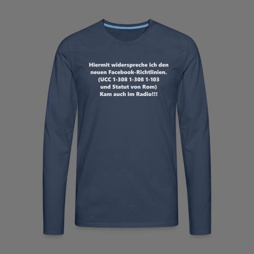 Facebook-AGB - Männer - Männer Premium Langarmshirt