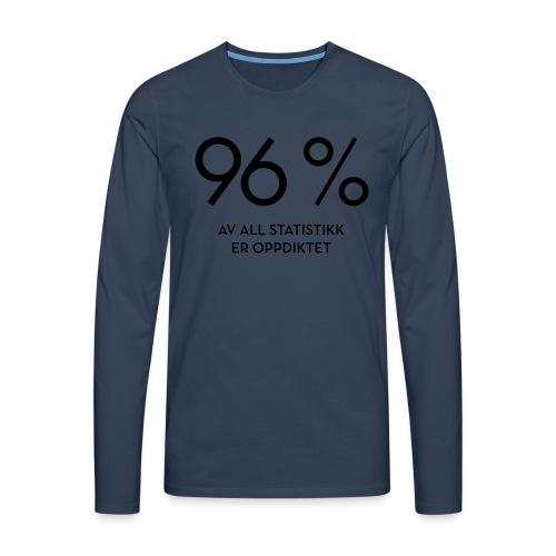 Statistikk-sprøyt (fra Det norske plagg) - Premium langermet T-skjorte for menn