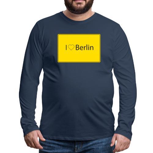 I love Berlin - Männer Premium Langarmshirt