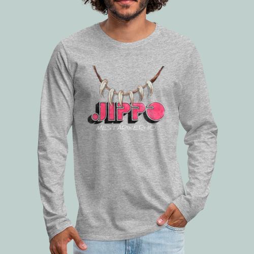 jippomestari_pink - Miesten premium pitkähihainen t-paita