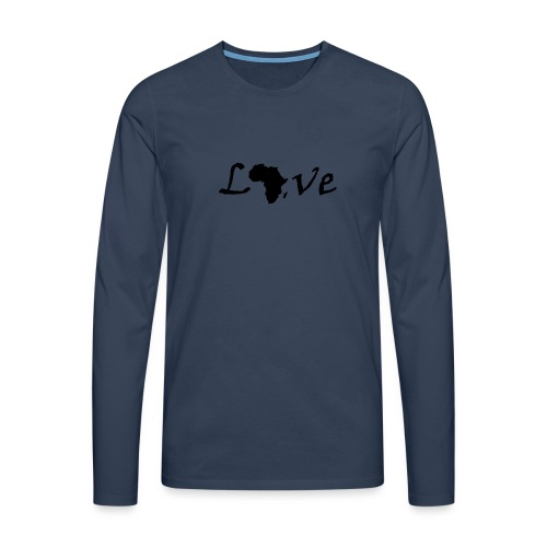 Love Africa - Männer Premium Langarmshirt