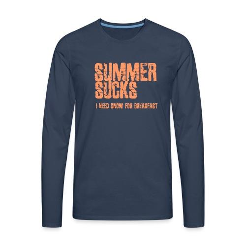 SUMMER SUCKS - Mannen Premium shirt met lange mouwen