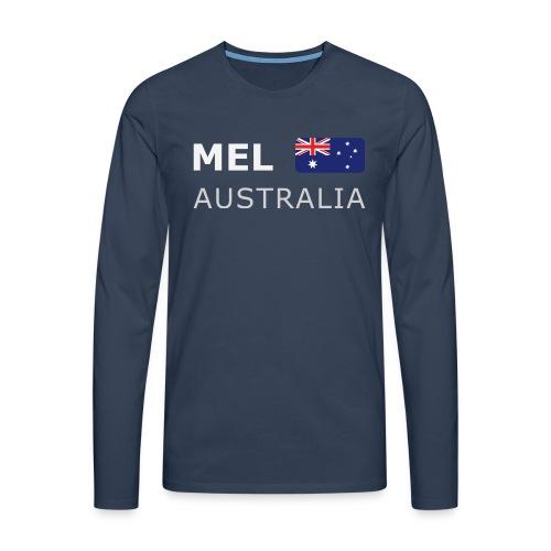 MEL AUSTRALIA white-lettered 400 dpi - Men's Premium Longsleeve Shirt