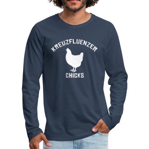 Kreuzfluenzer Chicks WHITE - Männer Premium Langarmshirt