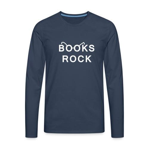 Books Rock White - Men's Premium Longsleeve Shirt