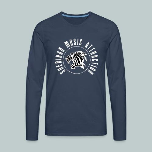 The Sherikan Music Attraction logo - Långärmad premium-T-shirt herr