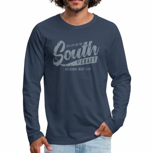 ETELÄRANNIKKO, SOUTH COAST HELSINKI COOL T-SHIRTS - Miesten premium pitkähihainen t-paita