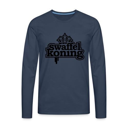 SwaffelKoning - Mannen Premium shirt met lange mouwen