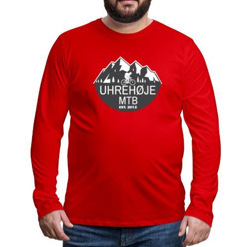 UhreHøje MTB - Herre premium T-shirt med lange ærmer