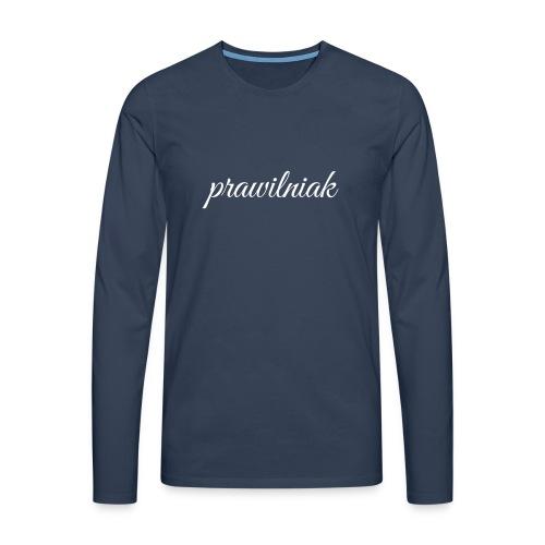 saszetka/nerka (prawilniak) - Koszulka męska Premium z długim rękawem