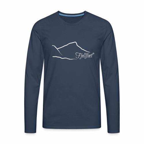 Fjellfint m/hvit logo - Premium langermet T-skjorte for menn