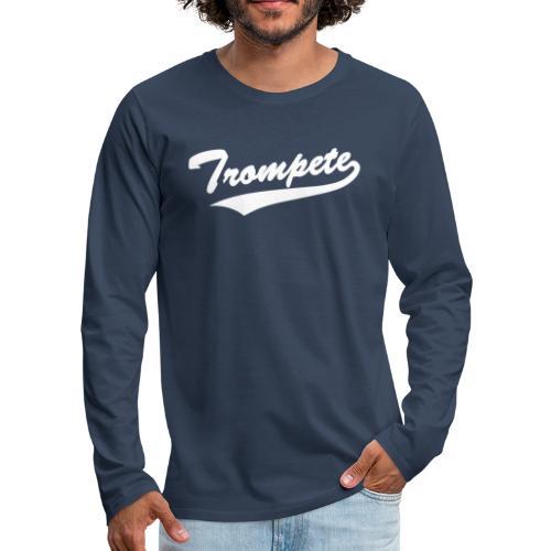 Trompete Baseball-Style - Männer Premium Langarmshirt