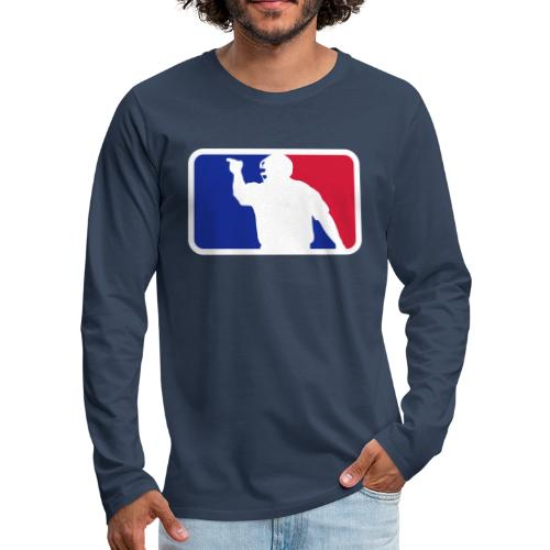 Baseball Umpire Logo - Men's Premium Longsleeve Shirt
