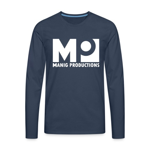 ManigProductions White Transparent png - Men's Premium Longsleeve Shirt