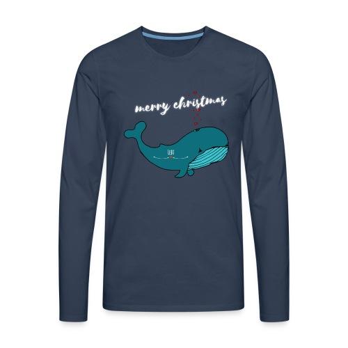 Wal merry Christmas - Männer Premium Langarmshirt