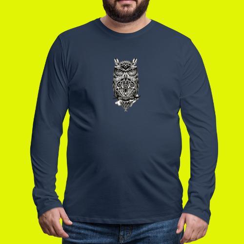 maglietta gufo - Maglietta Premium a manica lunga da uomo