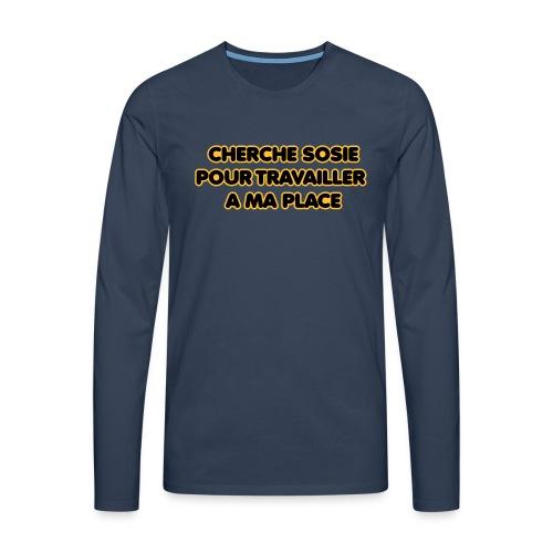 cherche_sosie2 - T-shirt manches longues Premium Homme