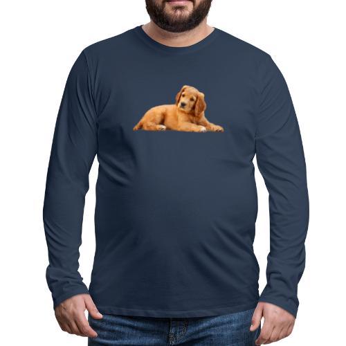 schoenenstelend blafbeest - Mannen Premium shirt met lange mouwen
