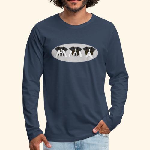 Hunde Geschenk - Männer Premium Langarmshirt